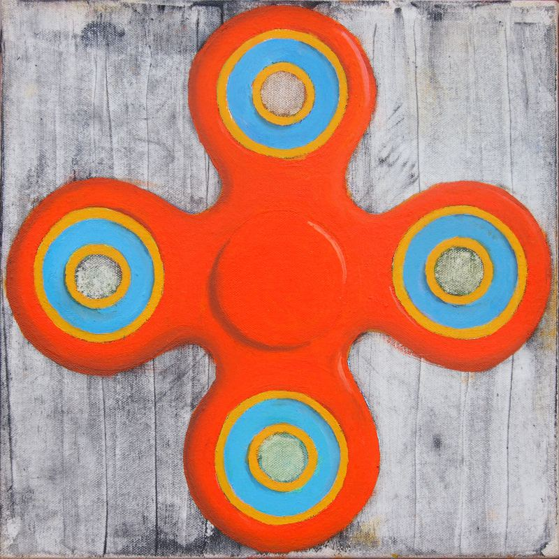 Steve Wright painting Lucky Spinner 2019